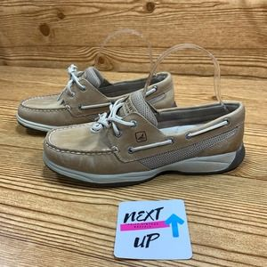 Sperry Beige Casual Loafers Boat Shoes size 9